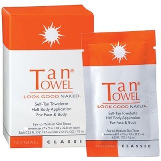 Tan Towel Self-Tan Towelette Half Body Application (Pack of 10)