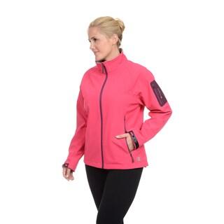 Champion Women's Plus Raglan Sleeve Mock Neck Soft Shell Jacket