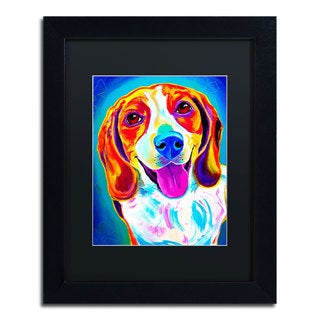DawgArt 'Lucy' Black Matte, Black Framed Wall Art