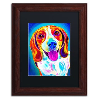 DawgArt 'Lucy' Black Matte, Wood Framed Wall Art