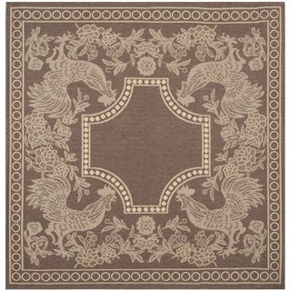 Safavieh Rooster Chocolate/ Natural Indoor/ Outdoor Rug (6'7 Square)