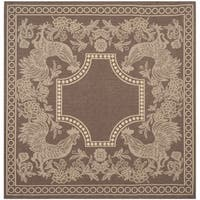 Safavieh Rooster Chocolate/ Natural Indoor/ Outdoor Rug - 6'7 Square