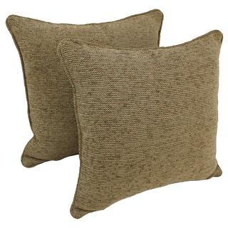 Blazing Needles 18-inch Corded Hawthorne Multi Jacquard Chenille Throw Pillows (Set of 2)
