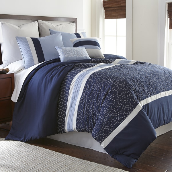Amraupur Overseas Ivory Gate 8-piece Embroidered Comforter Set