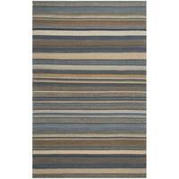 Safavieh Hand-Woven Kilim Blue Wool Rug - 3' x 5'