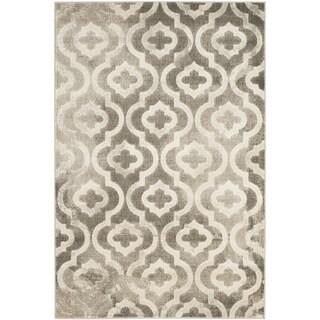 Safavieh Porcello Contemporary Moroccan Grey/ Ivory Rug (3' x 5')