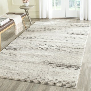 Safavieh Retro Modern Abstract Cream/ Grey Distressed Area Rug (3' x 5')