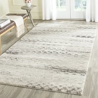 Safavieh Retro Modern Abstract Cream/ Grey Distressed Area Rug - 3' x 5'