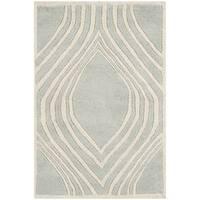 Safavieh Handmade Chatham Grey/ Ivory Wool Rug - 3' x 5'