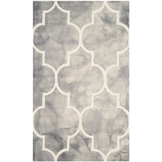 Safavieh Handmade Dip Dye Watercolor Vintage Grey/ Ivory Wool Rug (3' x 5')