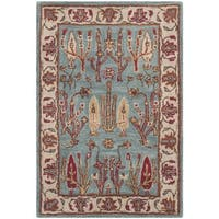 Safavieh Handmade Heritage Timeless Traditional Blue/ Ivory Wool Rug - 3' X 5'