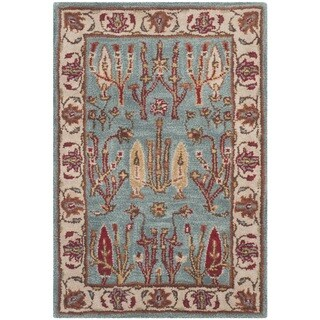 Safavieh Handmade Heritage Timeless Traditional Blue/ Ivory Wool Rug (3' x 5')