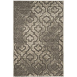 Safavieh Porcello Contemporary Moroccan Grey/ Dark Grey Rug (3' x 5')