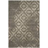 Safavieh Porcello Contemporary Moroccan Grey/ Dark Grey Rug - 3' x 5'