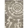 Safavieh Porcello Abstract Contemporary Grey/ Ivory Rug (3' x 5')