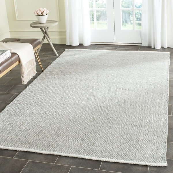 Safavieh Hand-Tufted Boston Grey Cotton Rug (5' x 8')