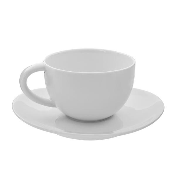 10 Strawberry Street Royal Oval 10-ounce Cup and Saucer (Set of 6)