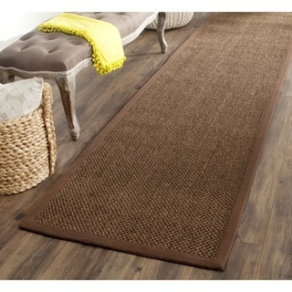Safavieh Casual Natural Fiber Handmade Brown / Brown Sisal Rug (2' x 10')