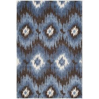 Safavieh Retro Bohemian Dark Brown/ Blue Distressed Rug (3' x 5')