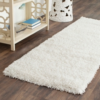 Safavieh California Cozy Solid White Shag Rug (2'3 x 13')