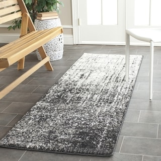 Safavieh Retro Modern Abstract Black/ Light Grey Runner (2'3 x 13')