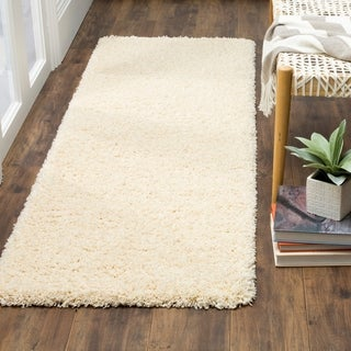Safavieh California Cozy Plush Ivory Shag Rug (2'3 x 13')