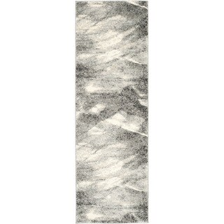 Safavieh Retro Mid-Century Modern Abstract Grey/ Ivory Rug (2'3 x 13') - 2'3 x 13'