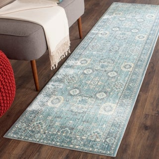 Safavieh Valencia Alpine/ Multi Distressed Silky Polyester Rug (2'3 x 12')