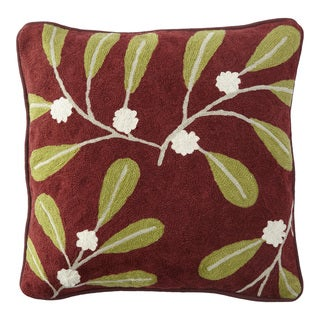 Handmade Chainstitch Nature Designer Cushion Cover (India)