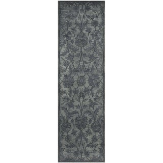 Safavieh Handmade Antiquity Grey/ Multi Wool Rug (2'3 x 12')