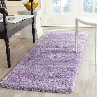 Safavieh California Cozy Solid Lilac Shag Rug (2'3 x 11')