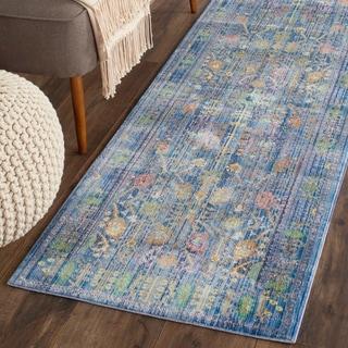 Safavieh Valencia Blue/ Multicolor Rug (2'3 x 10')