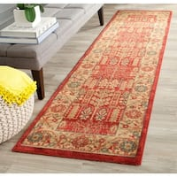 Safavieh Mahal Traditional Grandeur Red/ Natural Rug - 2'2 X 10'