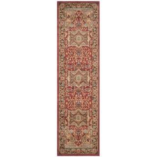 Safavieh Mahal Traditional Grandeur Natural/ Navy Rug (2'2 x 10')