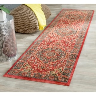 Safavieh Mahal Navy/ Red Rug (2'2 x 10')