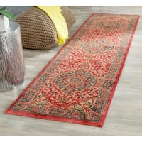 Safavieh Mahal Traditional Grandeur Navy/ Red Rug (2'2 x 10')