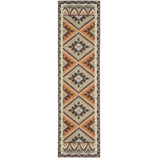 Safavieh Indoor/ Outdoor Veranda Green/ Terracotta Rug (2'3 x 8')