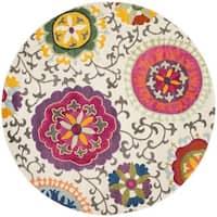 Safavieh Monaco Floral Ivory / Multicolored Rug - 6'7 Round