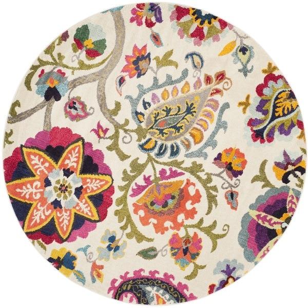 Safavieh Monaco Floral Ivory / Multicolored Rug (6'7 Round)