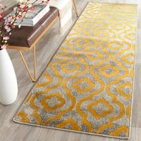 "Safavieh Porcello Contemporary Moroccan Light Grey/ Yellow Rug - 2'4"" x 6'7"""