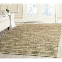 Safavieh Cape Cod Handmade Green Jute Natural Fiber Rug - 6' Square