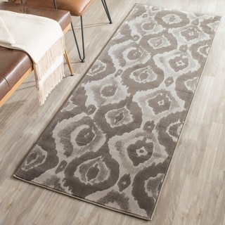 Safavieh Porcello Abstract Ogee Ivory/ Purple Runner Rug (2'4 x 6'7)