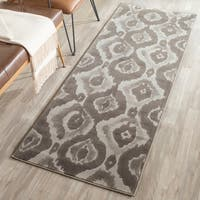 Safavieh Porcello Abstract Ogee Ivory/ Dark Grey Runner Rug (2'4 x 6'7) - 2'4 x 6'7