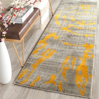 Safavieh Porcello Abstract Contemporary Light Grey/ Yellow Rug (2'4 x 6'7)