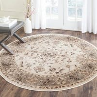 Safavieh Vintage Oriental Stone/ Mouse Brown Distressed Silky Viscose Rug - 6' Round