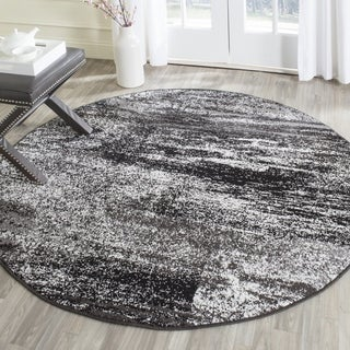 Safavieh Adirondack Modern Abstract Silver/ Black Rug (6' Round)