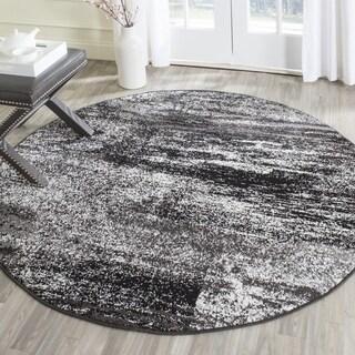 Safavieh Adirondack Modern Abstract Silver/ Black Rug - 6' Round