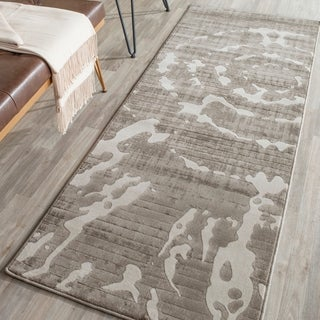 Safavieh Porcello Abstract Contemporary Grey/ Ivory Runner Rug (2'4 x 6'7)