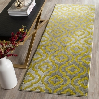Safavieh Porcello Contemporary Moroccan Light Grey/ Green Rug (2'4 x 6'7)