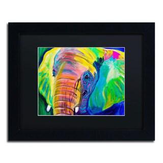 DawgArt 'Pachyderm' Black Matte, Black Framed Wall Art